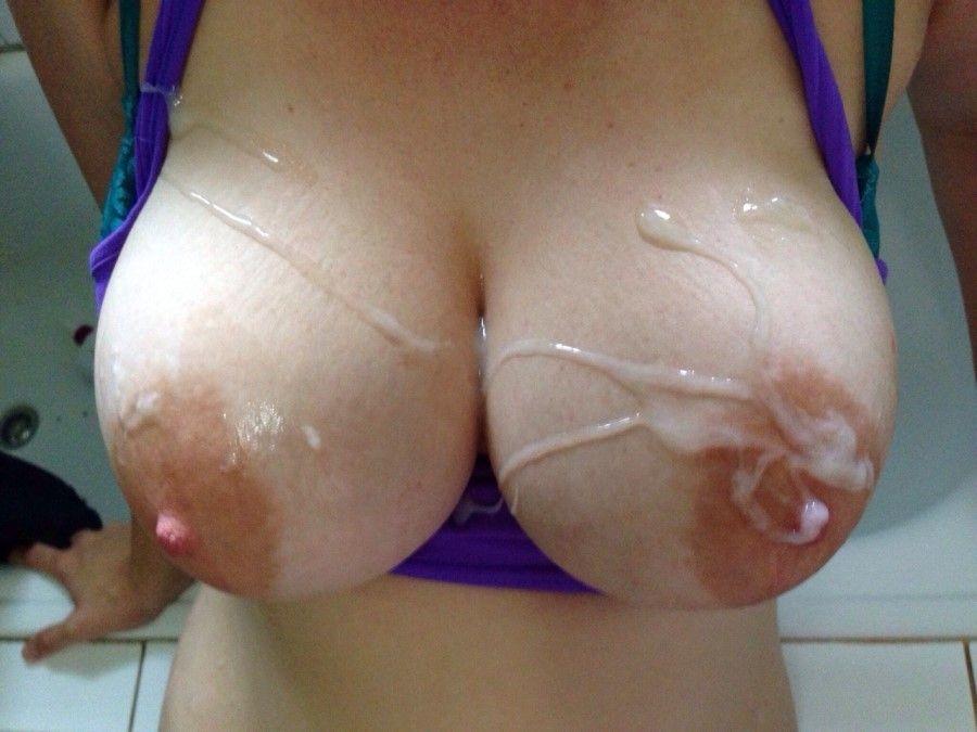 Фото в сперме большые сиськи