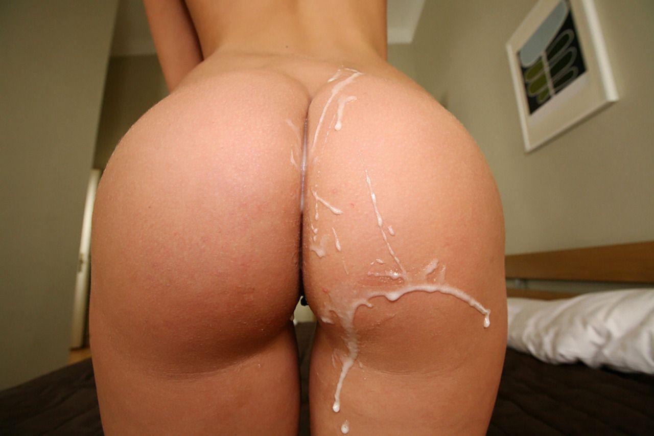 Попкаголая в сперме фото